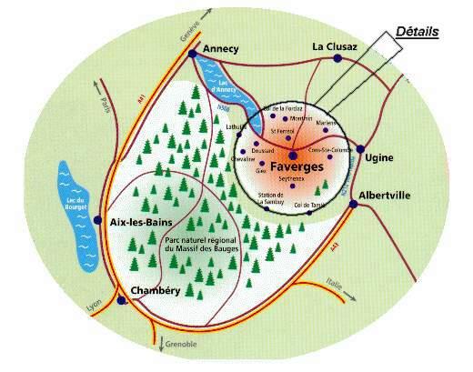 Situation de la location situe saint ferreol savoie for Piscine ugine